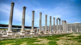 Ä°zmir, Turchia - 31 marzo 2013: Smyrna era una città del greco antico situata a Smirne, Turchia Fotografia Stock Libera da Diritti