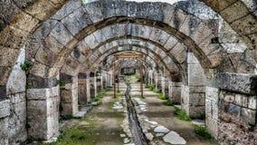 Ä°zmir Turkiet - mars 31, 2013: Smyrna var en gammalgrekiskastad som lokaliserades på den Aegean kusten, i dag som var bekant som Royaltyfria Foton