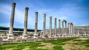Ä°zmir, Turkije - Maart 31, 2013: Smyrna was een Oude Griekse die stad in Izmir, Turkije wordt gevestigd Royalty-vrije Stock Fotografie