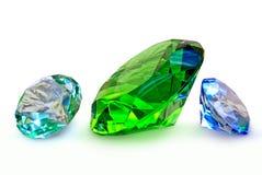 Ädelstenar smycken som isoleras på en vit bakgrund Royaltyfria Bilder