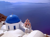Ägäische Cycladen-Insel Stockbilder