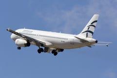 Ägäische A320 entfernen an sich Lizenzfreie Stockfotos