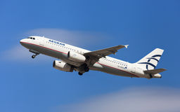 Ägäische Fluglinien Airbus A320 Stockfotografie