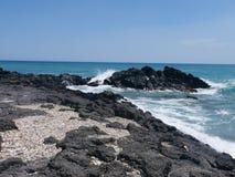 Ägäische Küste bei Giardini Naxos Stockbild