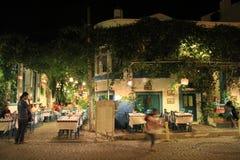 Ägäischer Bereich - Tenedos-Insel, Kunst, an den Shops, Häuser Stockfotografie