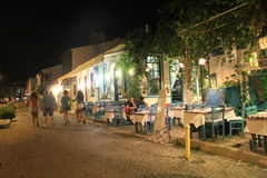 Ägäischer Bereich - Tenedos-Insel, Kunst, an den Shops, Häuser Lizenzfreie Stockbilder