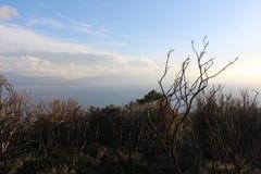 Ägäisches Meer und Ponyinsel stockbild