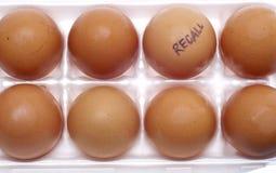 äggåterkallelse Arkivfoto