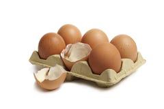 Äggöverrrakning Arkivbild