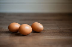 3 ägg Arkivbild