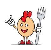 Ägg blir rädd modern matstil Royaltyfri Illustrationer