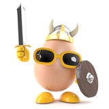 ägg för 3d Viking Royaltyfria Foton