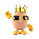 ägg för konung 3d Arkivfoto