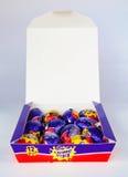 Ägg för kräm för Cadbury ` s Arkivbild
