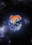 Ägg för miljöbegreppsjord Royaltyfri Foto
