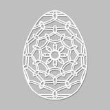 Ägg för påsk för vektorstencil spets- med den sned openwork modellen Tem royaltyfri illustrationer