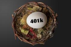ägg för rede 401K Arkivfoto