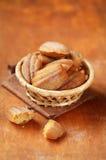 Ägg-fria Mejeri-fria Honey Lemon Madeleines Royaltyfri Bild