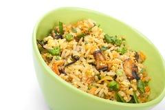 Ägg Fried Rice Royaltyfri Fotografi
