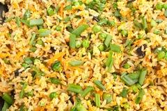 Ägg Fried Rice Background arkivfoton