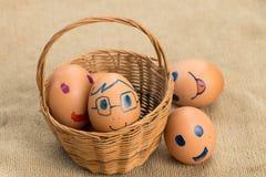 Ägg har uttryck Royaltyfri Bild