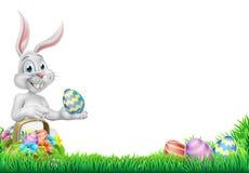 Ägg Hunt Easter Bunny Rabbit Design stock illustrationer