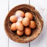 Ägg i bunke Royaltyfria Bilder