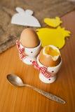 Ägg i cocottes Fotografering för Bildbyråer