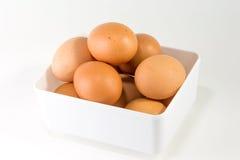 Ägg i den vita asken Royaltyfri Fotografi