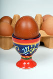 Ägg i en äggkopp Royaltyfri Foto