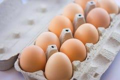 Ägg i en ask Royaltyfri Fotografi