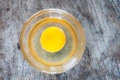 Ägg i en bunke Royaltyfri Foto