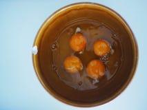Ägg i en bunke Royaltyfri Fotografi