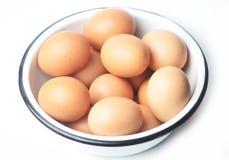 Ägg i en bunke Royaltyfri Bild
