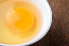 Ägg i en bunke, bästa sikt Arkivbilder