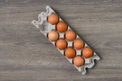 Ägg i magasin Royaltyfri Bild