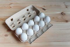 Ägg i packen Royaltyfri Foto