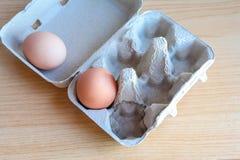 Ägg i pappers- magasin royaltyfria foton