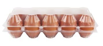 Ägg i plast- Royaltyfria Bilder