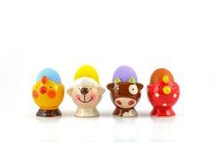 Ägg i utsmyckad äggkopp Royaltyfria Foton