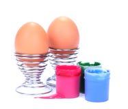 ägg isolerad målarfärg Fotografering för Bildbyråer