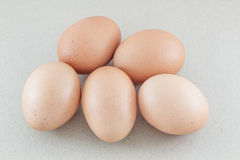 Ägg isolerade bakgrund för brunt papper Arkivfoton