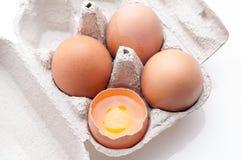 ägg isolerade white Royaltyfri Fotografi