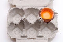 ägg isolerade white Arkivfoto
