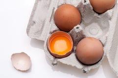 ägg isolerade white Royaltyfri Bild
