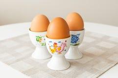 Ägg kuper in hållare Royaltyfria Bilder