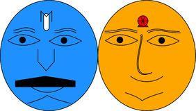 Ägg-lag royaltyfri illustrationer