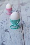Ägg mat, frukost, easter, ägg, äggställningar Arkivbilder