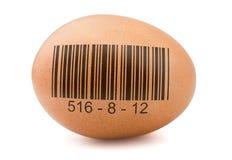 Ägg med barcoden arkivfoto