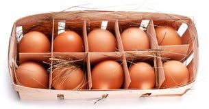 Ägg med ett sugrör Royaltyfri Bild